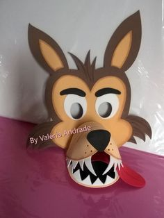 24 hour online teachers: Bad wolf mask with mold Halloween Costumes For Work, Halloween Kids, Animal Masks, Animal Heads, Felt Patterns, Sewing Patterns, Wolf Mask, Pig Crafts, Holiday Crafts For Kids