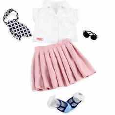 Here's another cute ensemble that I'm adding to build Melody's wardrobe closet. Hmmm, why did Our Generation just rip the cash right out of my wallet?! *deep sigh* But anyway, the girl is gonna be cute! #agig #americangirldoll #agdoll #joy2everygirl
