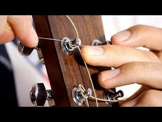 How to put on Guitar Strings - Acoustic Guitar Maintenance - YouTube