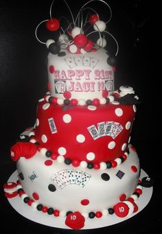Poker Cake All Cakes Pinterest Poker Cake Poker And Cake - 35th birthday cake ideas