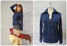 Pendleton sweater / virgin wool sweater / zip by FiregypsyVintage, $44.35