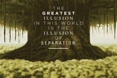 The greatest illusion in this world is the illusion of separation.