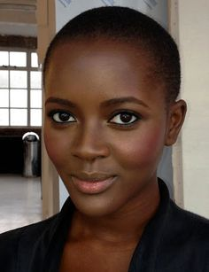 MUSINGS OF A MAKEUP ARTIST: Before/After: A Glowy Burnished Look for Black Women