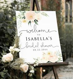 Bridal Shower Welcome Sign, Wedding Welcome, Plan Your Wedding, Wedding Planning, Wedding Prep, Wedding Advice, Spring Wedding, Wedding Ideas, Sign Templates