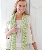 Twist pattern scarf - knit and crochet