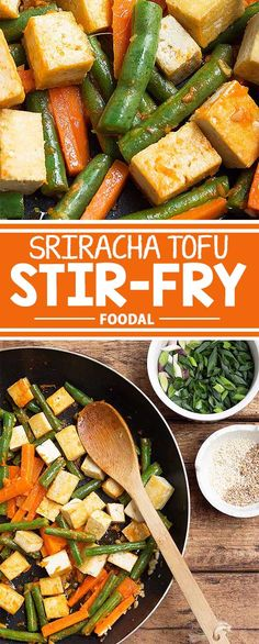 If you're looking for a vegetarian recipe that's also high in protein and flavorful at the same time, look no further. This simple tofu, green bean, and carrot stir-fry is your answer – filled with vegetables and flavored with ginger, garlic, and Sriracha sauce for extra kick, you'll have one satisfied tummy after a plate of this! Get the recipe from Foodal today!