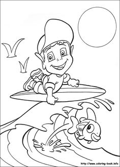 kids surfer coloring pages - photo#40