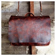 Leather Messenger Bag / Mailbag / Briefcase for men or women in Buffalo Leather