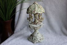 Vintage Carousel Horse Music Box Egg, by Treasure Realm