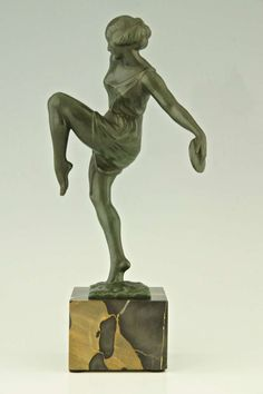 Art Deco Dancer With Cymbals By Fayral.