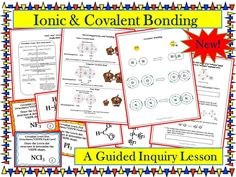 This guided inquiry lesson enables students to construct their own understanding of ionic and covalent bonding mechanisms and Lewis dot structures. Students also discover crystal lattice structures and VSEPR shapes . Students are able to actively learn the material without lecture or note taking.