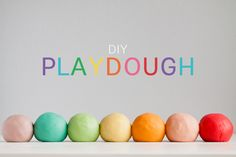 Silky-soft, sweet-smelling homemade playdough.