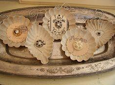 altered tart tin ornaments
