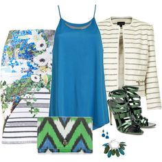 """""""Flowers and stripes"""" by ivanyi-krisztina on Polyvore"""