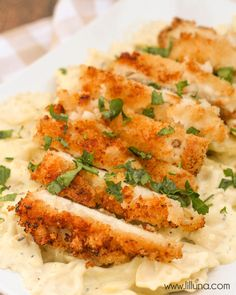 Crispy Chicken with Creamy Italian Pasta Sauce