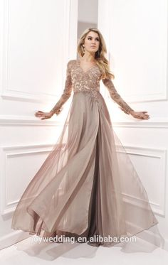 Evening Maxi Dresses With Long Sleeves - Plus Size Masquerade Dresses