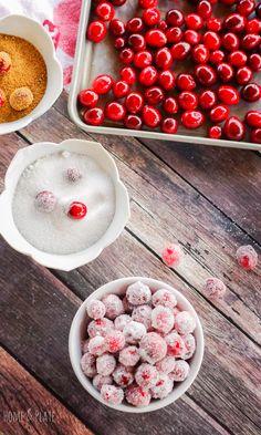 Sparkly Sugared Cranberries http://livedan330.com/2016/01/23/sparkly-sugared-cranberries/