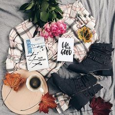 Hygge: coffee, book and favorite clothes:)