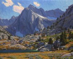 """Close to Camp—Sailor Lake"" by Charles Muench; 24""x30""; Oil on Linen #CaliforniaArt #EnPleinAir #LandscapeArt"