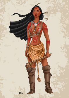 Historical+Disney+Warrior+Princess+-+Pocahontas+by+Pelycosaur24.deviantart.com+on+@DeviantArt