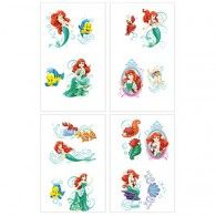 Little Mermaid Tattoos 1 Sheet - Party City Mermaid Under The Sea, The Little Mermaid, Little Mermaid Tattoos, 6th Birthday Parties, 3rd Birthday, Birthday Ideas, Discount Party Supplies, Party Stores, Mermaid Birthday