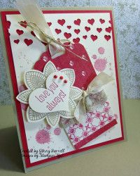 Valentine card made with Petal Potpourri by Stampin' Up!