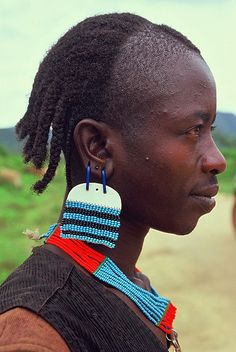 AFRICA - Bana man    		Portrait of a member of the Bana Ethnic group.Lower Omo ValleyEthiopia