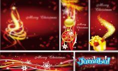 Vectores para Navidad Rojos y Dorados | Jumabu! Design Tools - Vectorizados - Iconos - Vectores - Texturas
