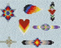 Brick Stitch Delica Seed Beading Wolf Eye PDF by wolfdendezigns38