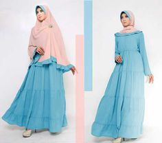 Baju Gamis Terbaru On Pinterest Brokat Spandex And Muslim