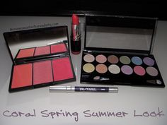 Great coral spring makeup look!