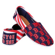 on sale 1a028 d1a82 Women s Forever Collectibles Boston Red Sox Striped Canvas Shoes