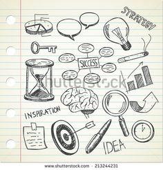 set of sketchy business doodle - stock vector #design #graphic #vector #illustration #doodle #idea #sketchy