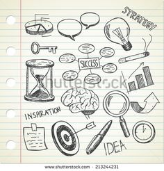 set of sketchy business doodle - stock vector #design #graphic #vector #illustration #doodle #idea #sketchy
