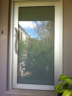 New Frosted Glass Entry Door