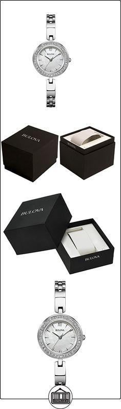 Bulova 98X107 - Reloj para mujeres, correa de acero inoxidable color plateado  ✿ Relojes para mujer - (Gama media/alta) ✿