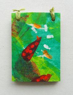 Cuaderno artesanal A7. Papel reciclado pintado a por kinmcuadernos, €8.00