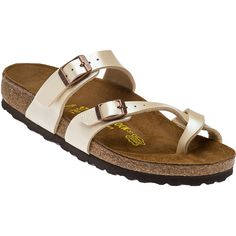 749924b96537 BIRKENSTOCK Mayari Antique Lace Crisscross Sandal ( 95) ❤ liked on Polyvore  featuring shoes