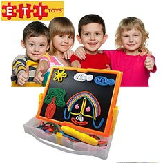 ETI Toys  Lace and Trace with Board for Boys and Girls 58 Piece set for endless fun Great for Learning Developing and Having Fun Draw your design Today