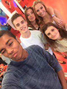 Vincent, Wout, Amber, Kyra en Leyla