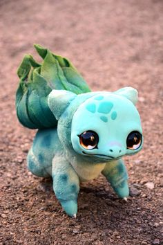 ATTENTION!!! ORDERS PAYED AFTER OCTOBER 11th WONT BE DELIVERED BEFORE CHRISTMAS!!!  Bulbasaur from Pokemon. You can order any other Pokemon you like! Price may vary depending on size and difficulty. Please contact me for details. Approx 16 cm ( ~6) in sitting position.  ATTENTION! This is made to order toy! I dont have this creature in stock right now! It will take several weeks to make one. Please click on Shipping & Policies to get more accurate information about manufacturing time. Youll…