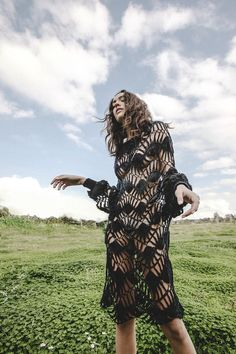 """Dress from Cristalinos Collection by ECOEMBES BY MARIA CLE LEAL. María Clè Leal became the winner in the """"Fashion"""" category of the Ecoembes Competition with a timeless proposal that includes both feminine and masculine garments."""