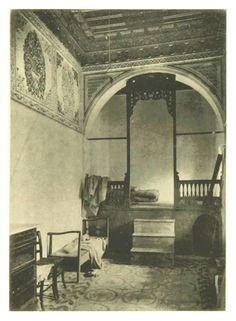 السدة في بيوتنا زمان .. صورة من كتاب.. Life in Tripoli صدر سنة 1894 طرابلس ليبيا Tripoli Libya