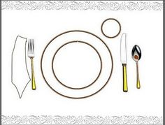 Printable Table Setting Practice Placemat from Mama Hall