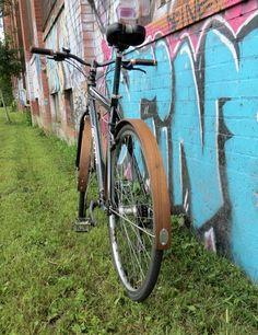 Walnut Wooden Bike Fenders by offcutstudio on Etsy, $120.00