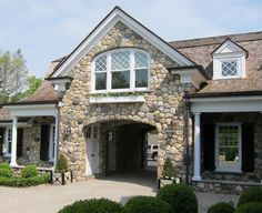 Porches house and love on pinterest for Cottage house plans with porte cochere
