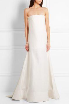 Roksanda | Maury drop-waist wool and silk-blend gown | NET-A-PORTER.COM
