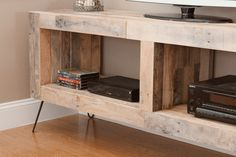 Reclaimed Wood TV Console with Open Storage
