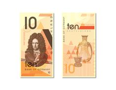 Currency Design: Germany by Angeline Toh, via Behance