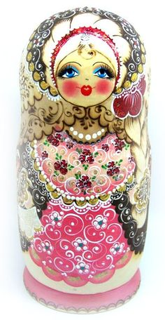 Matryoshka - a lot of time and love has gone into painting this doll. Fabulous!